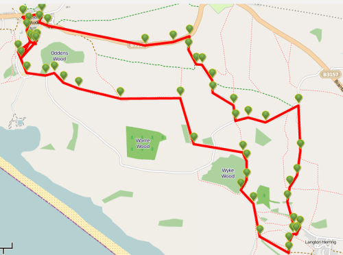 Walks And Walking - Weymouth Walks Abbotsbury Walking Route Map