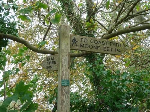 Walks And Walking - Weymouth Walks Langton Herring Walking Route - Elm Tree Inn Signpost