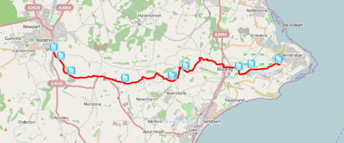 Walks And Walking - Isle of Wight Walks Bembridge Trail Map