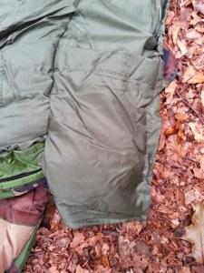 Walks And Walking - Pro Force Phantom Camo 250 Sleeping Bag - Secure Pocket Space