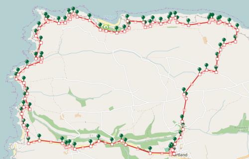 Walks And Walking - Hartland Walk in Devon Map