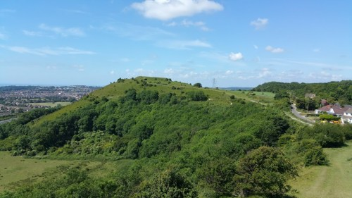 Walks And Walking - Folkestone 3 Peaks Challenge - View of Castle Hill from Sugar Loaf Hill