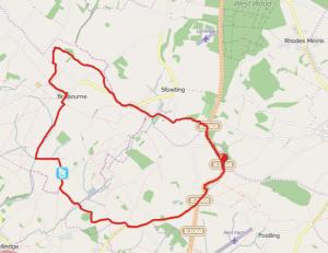 Walks And Walking - Monks Horton Walk In Kent Map