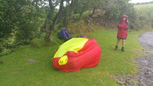 HF Holidays 8 Mile Linear Hard Walk to Lynmouth - Emergency Shelter