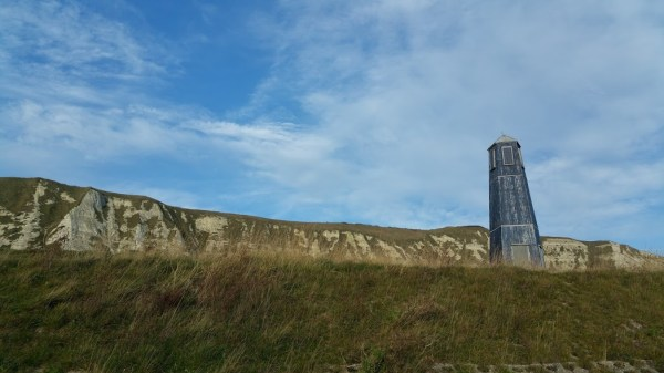Walks And Walking - Samphire Hoe Walk In Kent - Blue Lighthouse