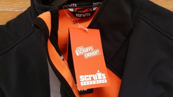 Scruffs Pro Softshell Jacket - Collar