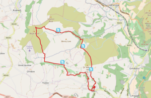 Darwin Forest Country Park Walks - Elam To Abney Map