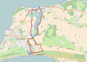 HF Holidays Self Guided Walk – Yarmouth Walking Route - Map
