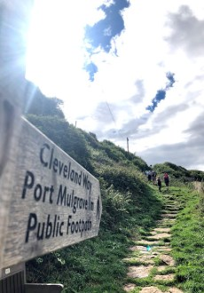 Following the Cleveland Way to Sandsend