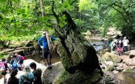 Stopping for a short break at Mallyan Spout Waterfall