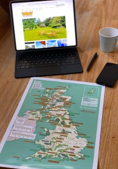 The NEW Scratch Off Great British Outdoors Map is a veritable treat for those who love to explore the natural wonders of beautiful Blighty.