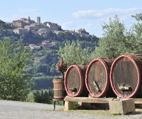 Montepulciano, a beautiful Tuscan town known for its Vino Nobile wine