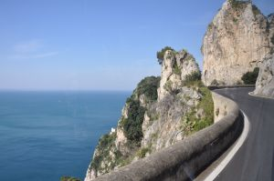 The SITA bus navigates the winding roads of the Amalfi Coast
