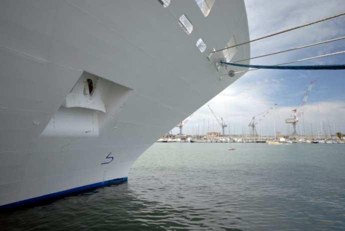 Cruise ship in an Italian port