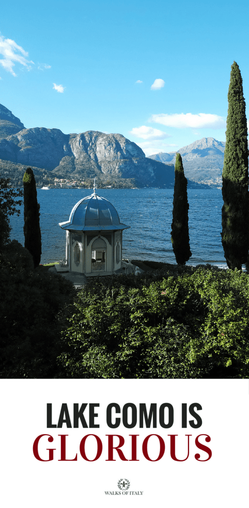 A garden overlooking Italy's Lake Como. Check out our list of Italy's most beautiful lakes.