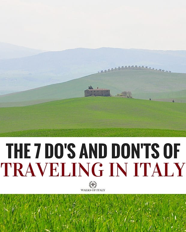 DO go off the beaten path in Italy to see incredible sites like the landscape of Val d'Orcia. Find out the other Do's and Don'ts of Italian travel in this blog!
