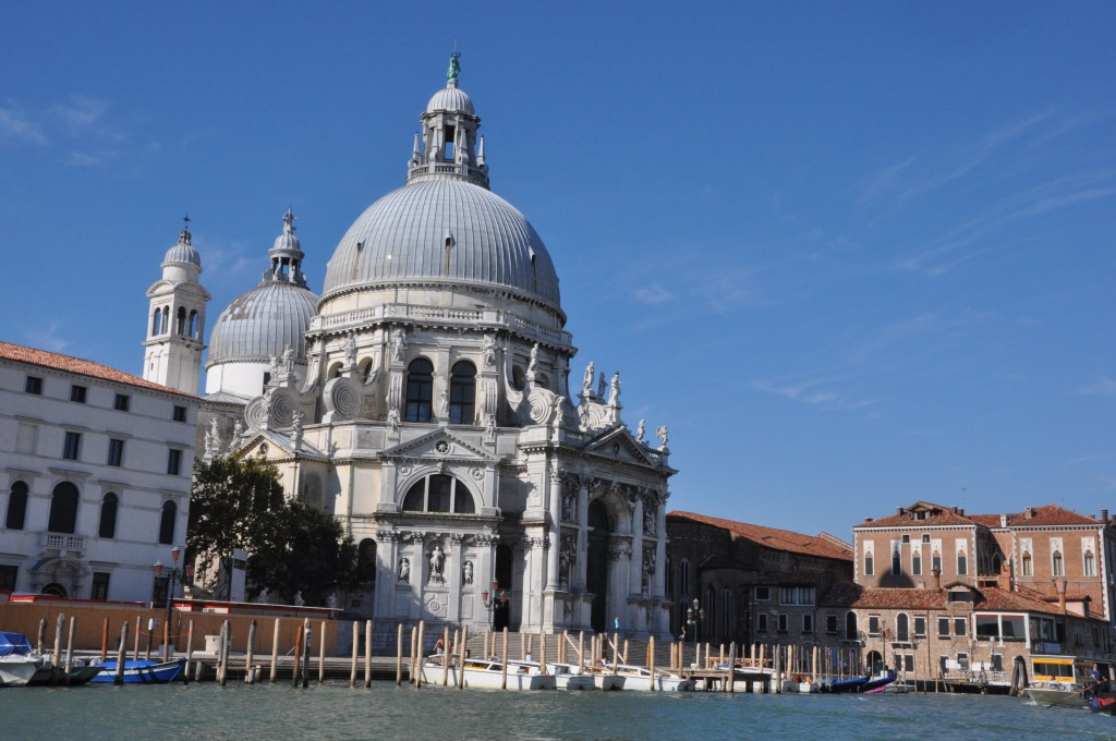 The church of Santa Maria della Salute in Dorsoduro, one of the more tranquil neighborhoods of Venice.