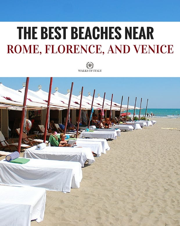 Venice's Lido Beach is the most convenient to reach from the city. Find out the most convenient and most beautiful beaches near Rome, Florence, and Venice.