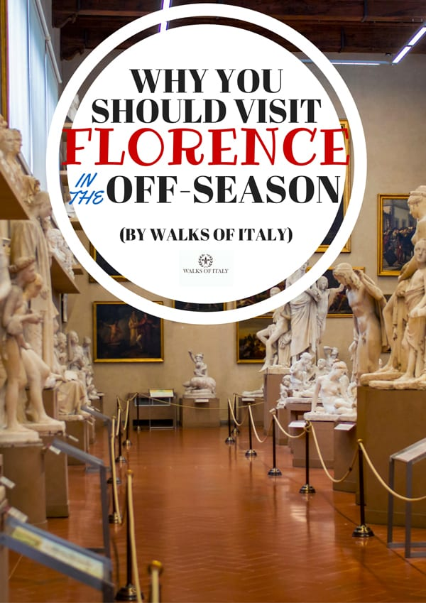 Empty galleries in museums are just one reason to visit Florence in the off-season. Find out what else to expect on the Walks of Italy Blog.