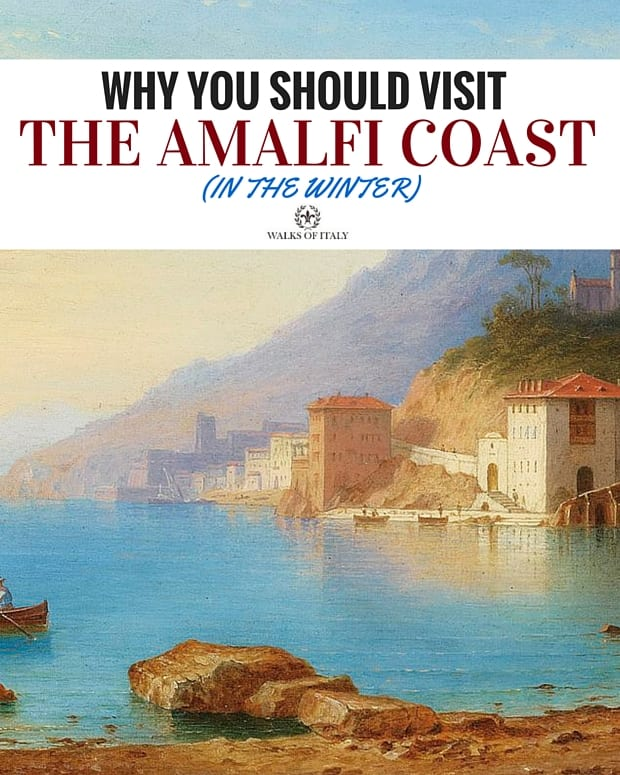 Carl Morgenstern's View of the Amalfi Coast depicts how nice the region can be at any time of the year. Find out why you should visit it during the off-season!