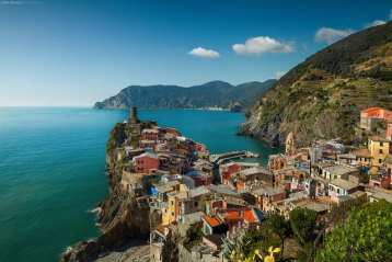 The Cinque Terre, on the Italian Riviera in Liguria