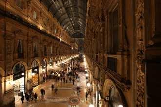 Galleria Vittorio Emanuele II is Milan's most impressive shopping arcade (flickr: Bruno Cordioli)