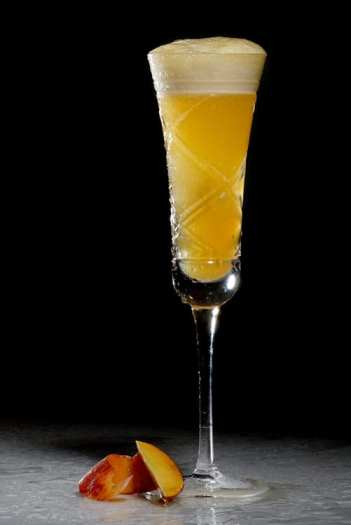 The Bellini, a popular and very simple cocktail from Venice