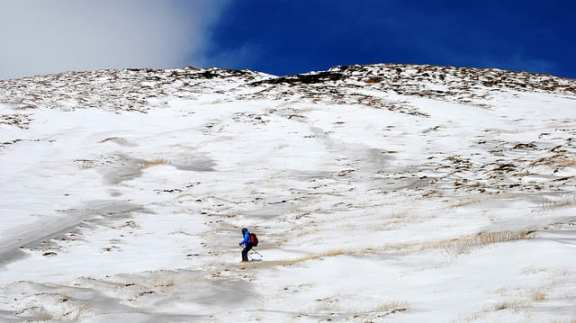 Skiing on Mt Etna
