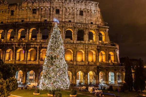 Christmas tree at the Colosseum