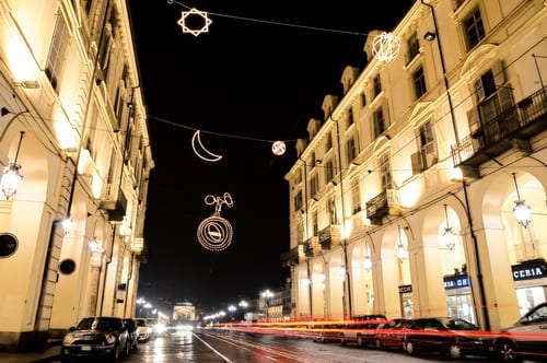 Christmas lights in Turin