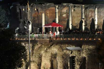 The Pope's Good Friday vigil in Rome, a popular event for those in Italy at Easter