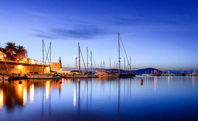 Sailing in Sardinia means catching evening views like this one! Photo by Alessandro Caproni