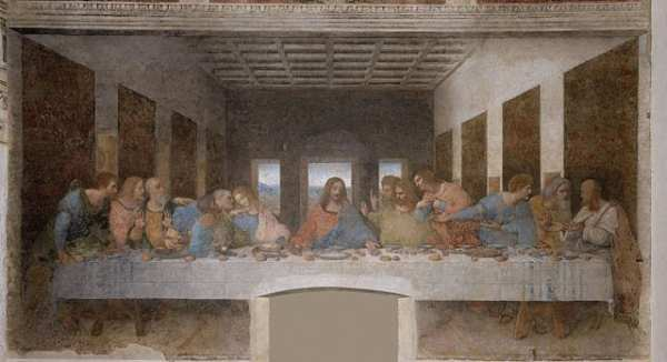 Public Domain version of Leonardo da Vinci's Last Supper. Photo from Wikicommons
