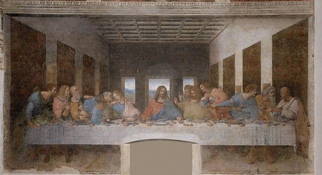Public Domain version of Leonardo da Vinci's Last Supper. Photo from Wikicommons