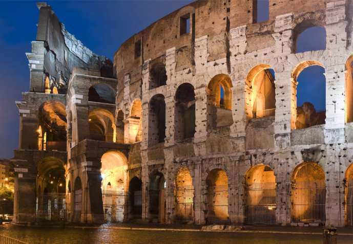 The colosseum at night is a sight that has moved poets and artists for centuries.