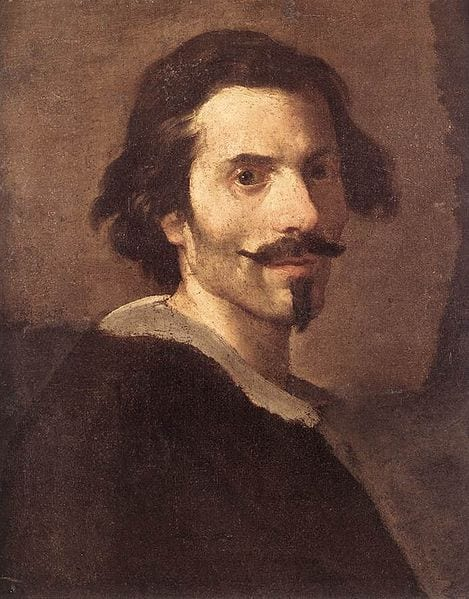 Gian Lorenzo Bernini's Self-portrait as a Mature Man, painted between 1630 and 1635. Photo from the Galleria Borghese