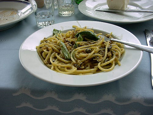 Mmmm, be sure to try Nerano's famous zucchini spaghetti! Photo by Pauline Kenny