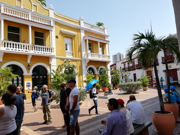 Visiting Cartagena during our winter escape art food workshop in South America