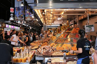Market in Barcelona during our painting workshops in Provence France and Barcelona Spain