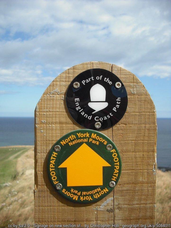 Signage on new section of Coast Path