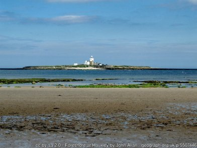 Foreshore at Hauxley With a view to Coquet Island