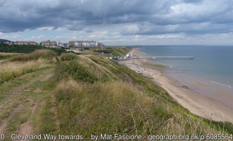 Cleveland Way towards Saltburn-by-the-Sea