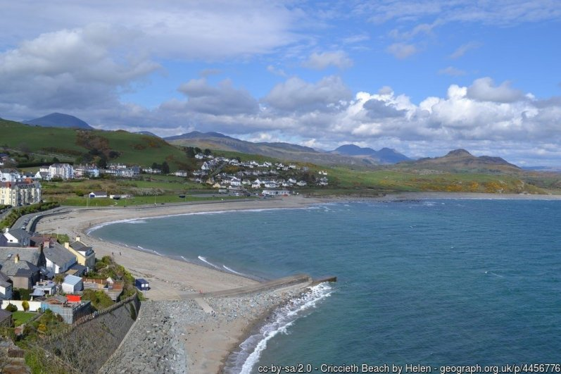 Cricieth Beach