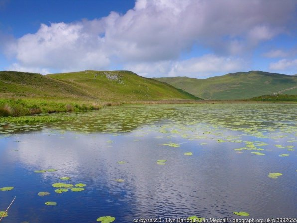 Llyn Barfog is a short diversion from the route