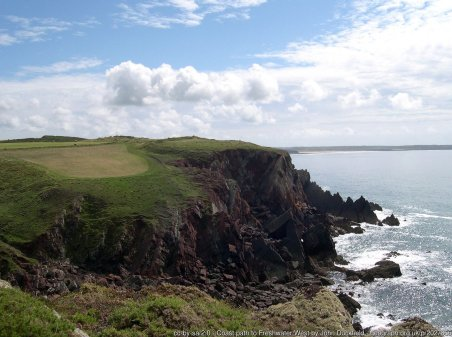 Coast path to Freshwater West