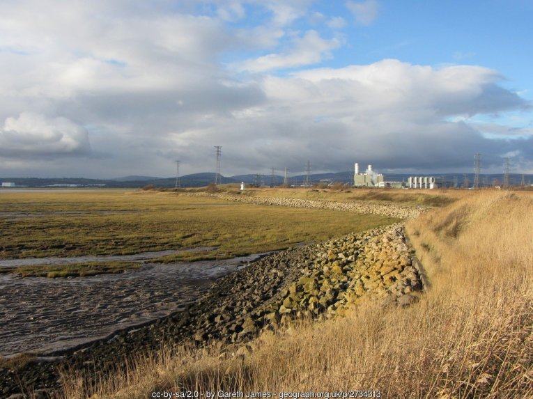 Coast near Newport Wetlands Centre