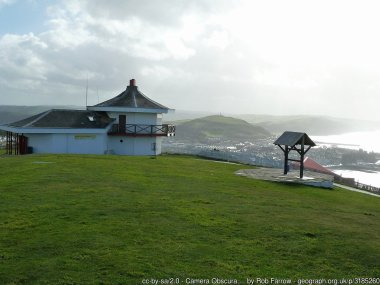 """Camera Obscura, Constitution Hill This octagonal building on Constitution Hill to the north of Aberystwyth houses the largest Camera Obscura in the World with a primary mirror measuring 14""""."""
