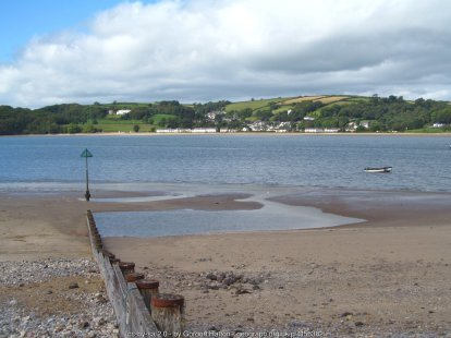 Ferryside beach A sandy shore on the Tywi estuary and a view across to Llansteffan.