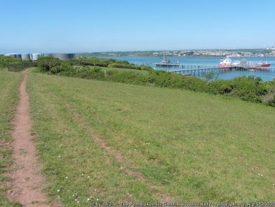 The Pembrokeshire Coast Path near Pwllcrochan Flats