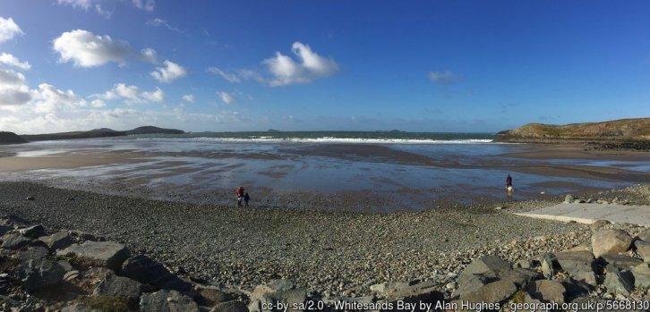Whitesands Bay Panoramic view of Whitesands Bay